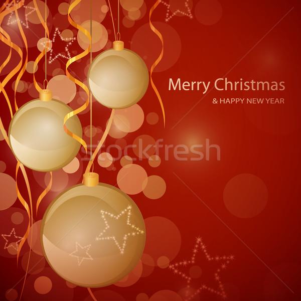 вектора Рождества декоративный счастливым свет зима Сток-фото © RamonaKaulitzki
