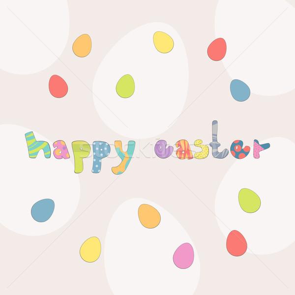 вектора Пасху цветы весны аннотация яйцо Сток-фото © RamonaKaulitzki