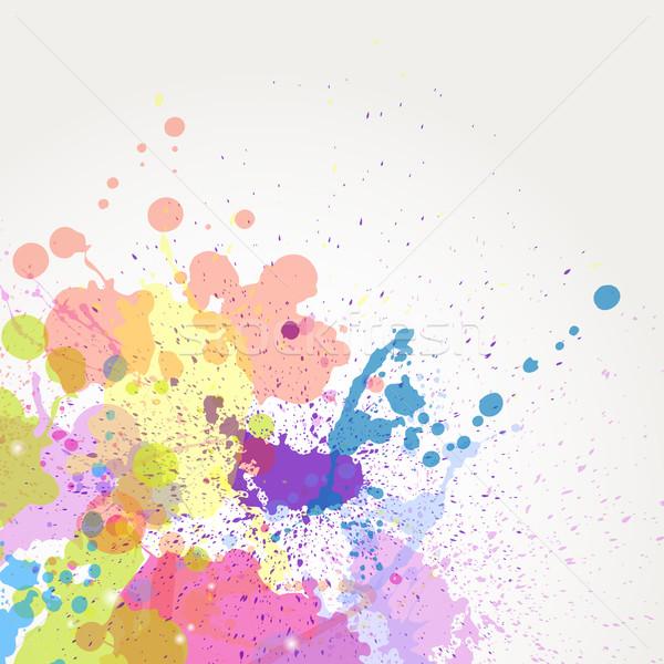 ベクトル 色 塗料 跳ね 子供 抽象的な ストックフォト © RamonaKaulitzki