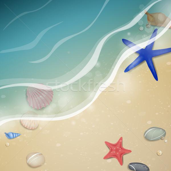 вектора природы лет пляж дизайна аннотация Сток-фото © RamonaKaulitzki