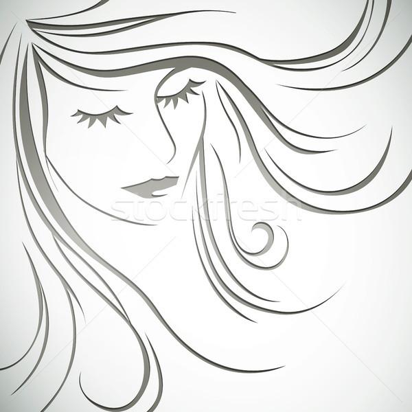 вектора девушки аннотация глазах дизайна Сток-фото © RamonaKaulitzki