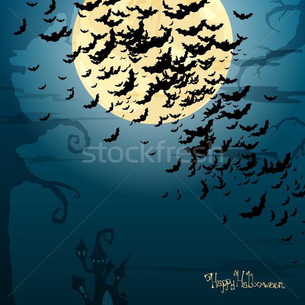 Halloween korkutucu kâğıt parti dizayn çerçeve Stok fotoğraf © RamonaKaulitzki
