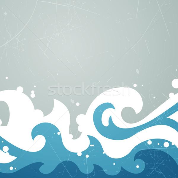 Сток-фото: вектора · воды · аннотация · лет · солнце · фон