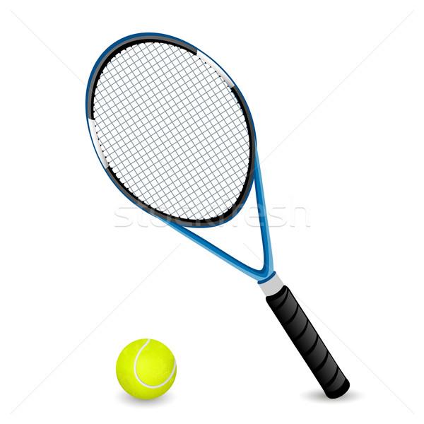 Vector Racket and a Ball Stock photo © RamonaKaulitzki