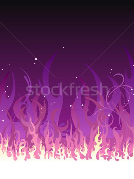 Vector Purple Fire Stock photo © RamonaKaulitzki