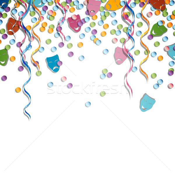 вектора красочный конфетти вечеринка дизайна Сток-фото © RamonaKaulitzki
