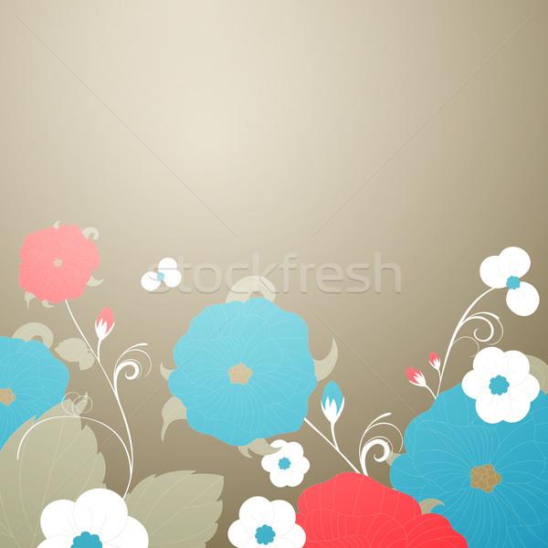 Foto stock: Abstrato · vetor · floral · primavera · casamento · amor