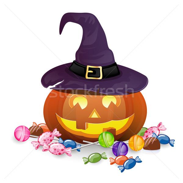 Хэллоуин конфеты лист фон кадр Сток-фото © RamonaKaulitzki