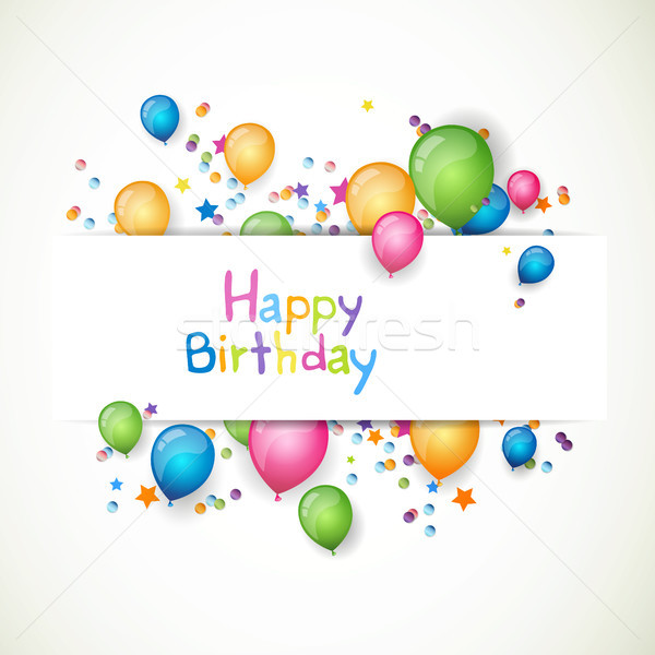 Stock photo: Vector Birthday Card