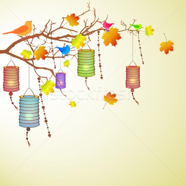 Autumnal vector design Stock photo © RamonaKaulitzki