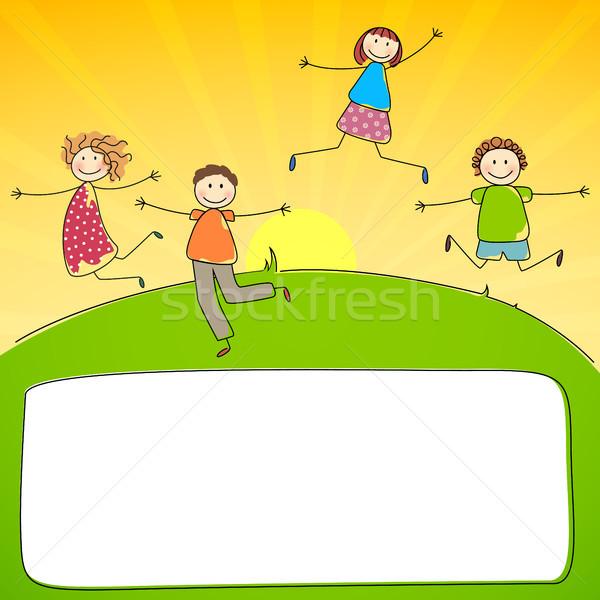 вектора дети прыжки люди женщины дизайна Сток-фото © RamonaKaulitzki