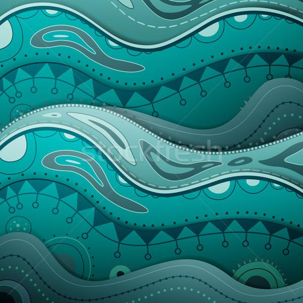 декоративный вектора воды дизайна искусства лет Сток-фото © RamonaKaulitzki