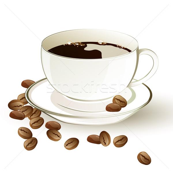 вектора чашку кофе кофе кофе фон пространстве Сток-фото © RamonaKaulitzki