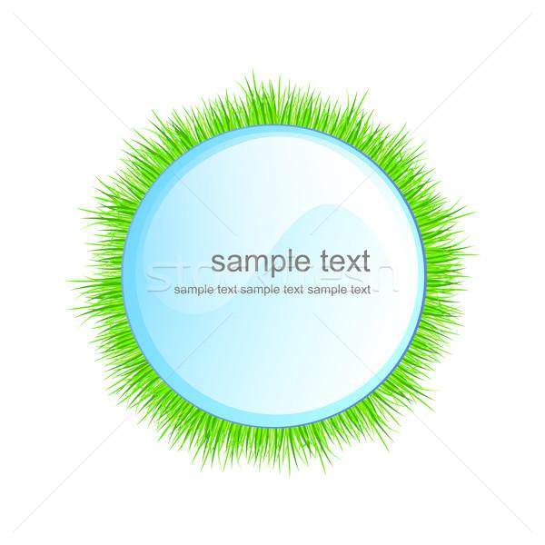 вектора природы аннотация трава зеленый цвета Сток-фото © RamonaKaulitzki