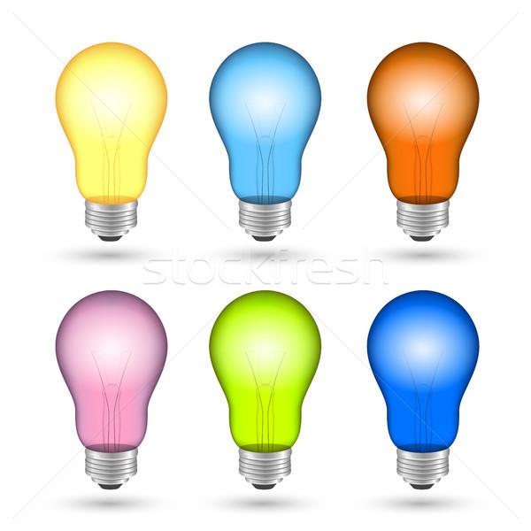 Vector Light Bulbs Stock photo © RamonaKaulitzki