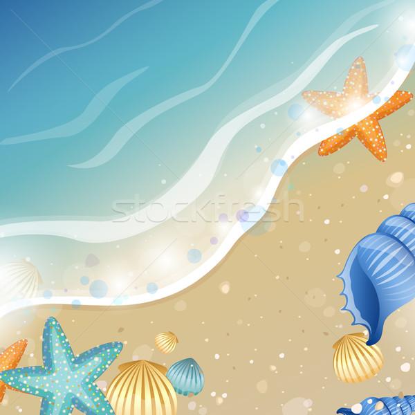 Vektör yaz plaj soyut deniz dizayn Stok fotoğraf © RamonaKaulitzki