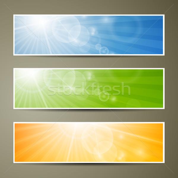 Resumen vector banners colorido arte web Foto stock © RamonaKaulitzki