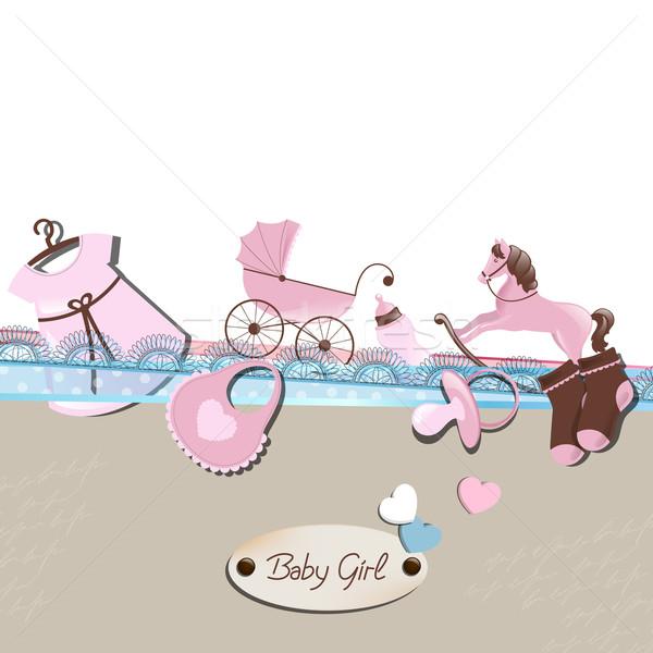 Vecteur bébé douche enfant design mère Photo stock © RamonaKaulitzki