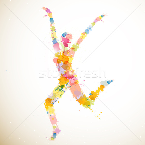 вектора девушки аннотация женщину фитнес Перейти Сток-фото © RamonaKaulitzki