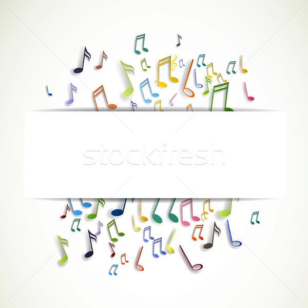 вектора музыку аннотация музыки отмечает дизайна искусства Сток-фото © RamonaKaulitzki