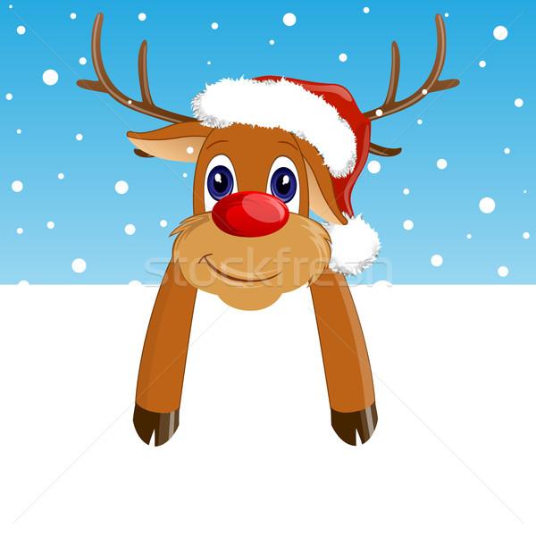 вектора Рождества декоративный северный олень природы искусства Сток-фото © RamonaKaulitzki