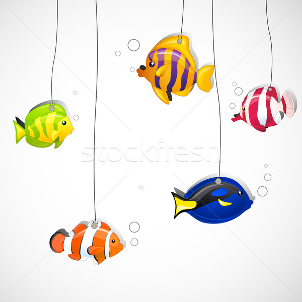 Vector Ornamental Fishes Stock photo © RamonaKaulitzki