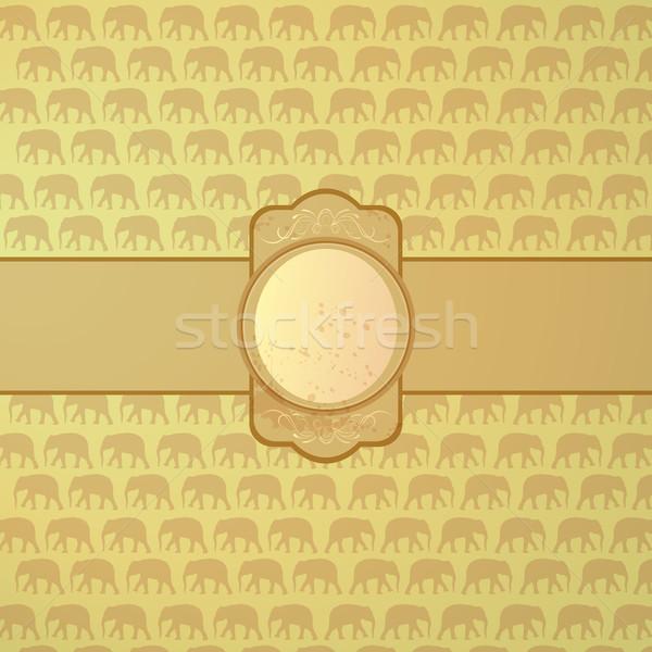 Díszítő vektor elefántok utazás Afrika színház Stock fotó © RamonaKaulitzki