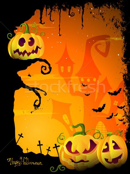 Vektör halloween dizayn korkutucu doku Stok fotoğraf © RamonaKaulitzki