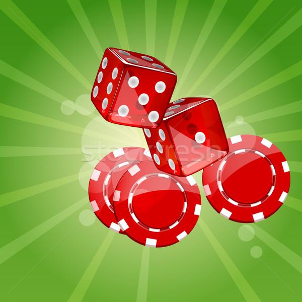 вектора покер Элементы падение фишки для покера казино Сток-фото © RamonaKaulitzki
