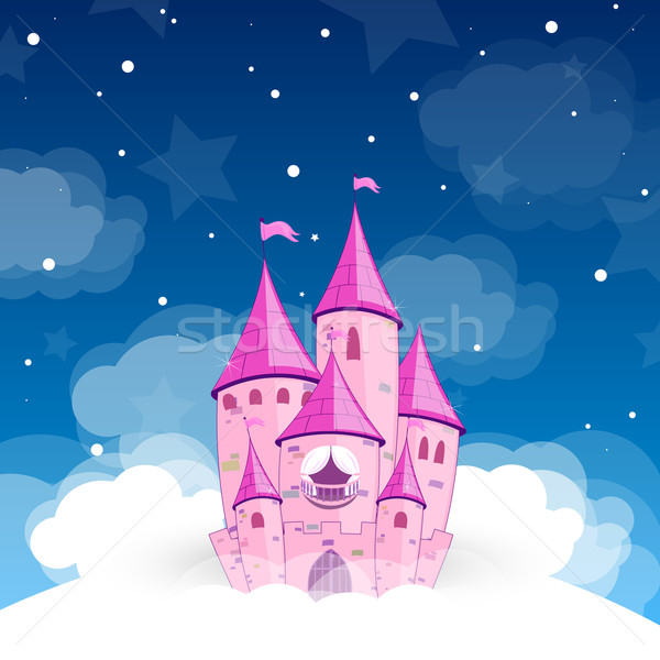 Vettore principessa castello notte cielo cartoon Foto d'archivio © RamonaKaulitzki