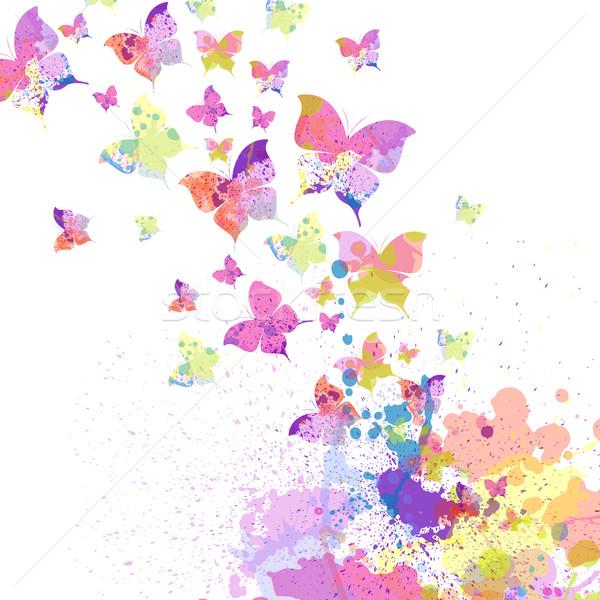 вектора бабочки красочный аннотация бабочка природы Сток-фото © RamonaKaulitzki
