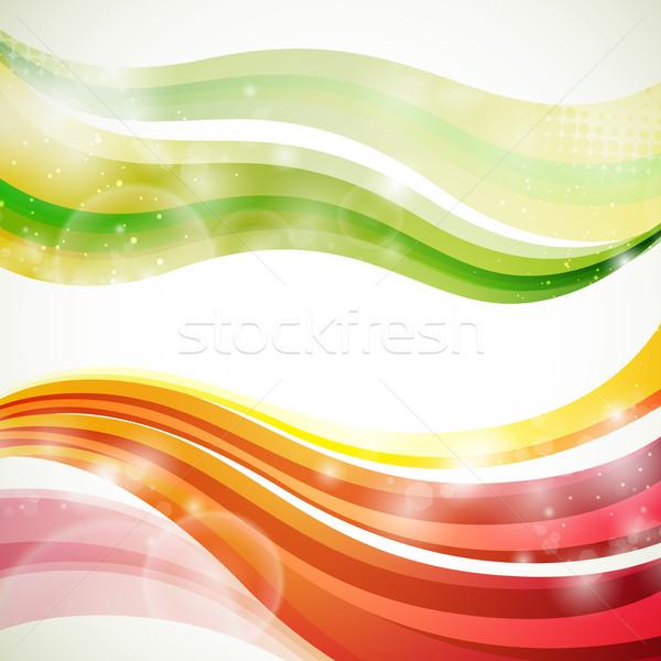 аннотация вектора красочный искусства веб волна Сток-фото © RamonaKaulitzki