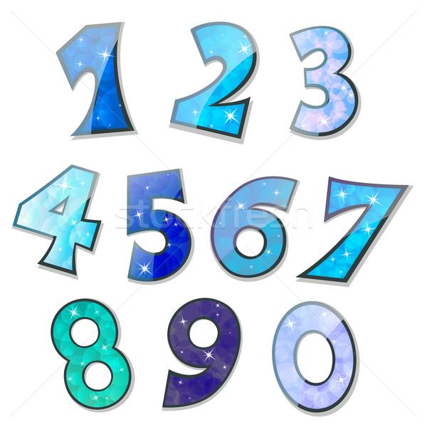 Vector números establecer fiesta ninos Foto stock © RamonaKaulitzki