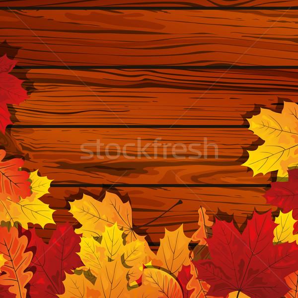 осень стены небе свет Сток-фото © RamonaKaulitzki