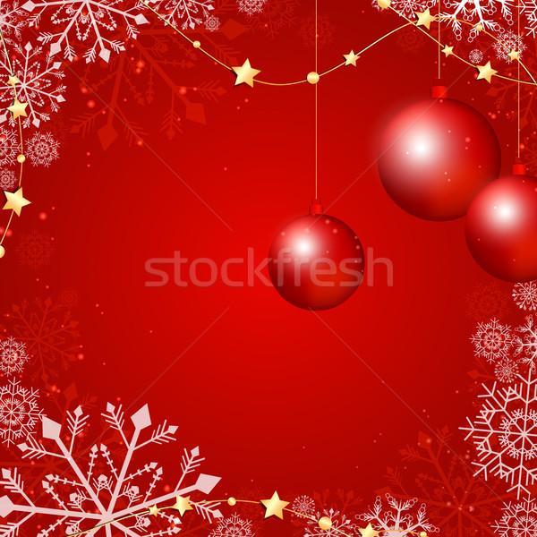 Noel kırmızı ışık top star altın Stok fotoğraf © RamonaKaulitzki