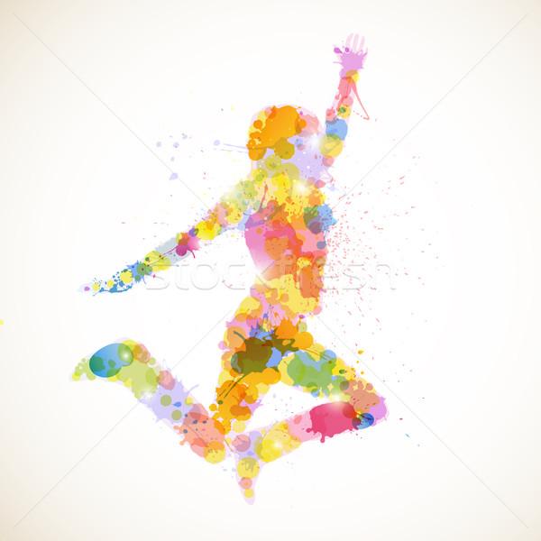 Сток-фото: вектора · девушки · аннотация · женщину · фитнес · Перейти