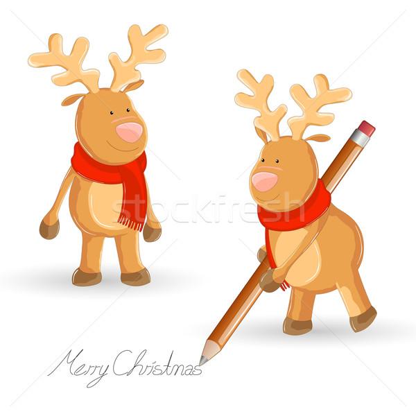 Vector Reindeers Stock photo © RamonaKaulitzki