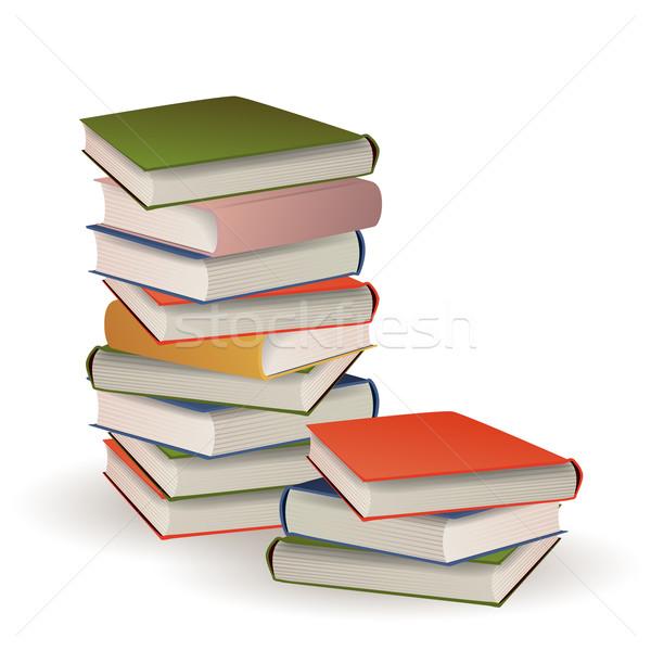 Vektör kitaplar kitap yeşil bilim Stok fotoğraf © RamonaKaulitzki