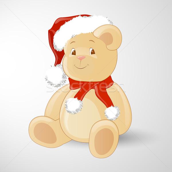 вектора Рождества Тедди мишка счастливым дизайна Сток-фото © RamonaKaulitzki