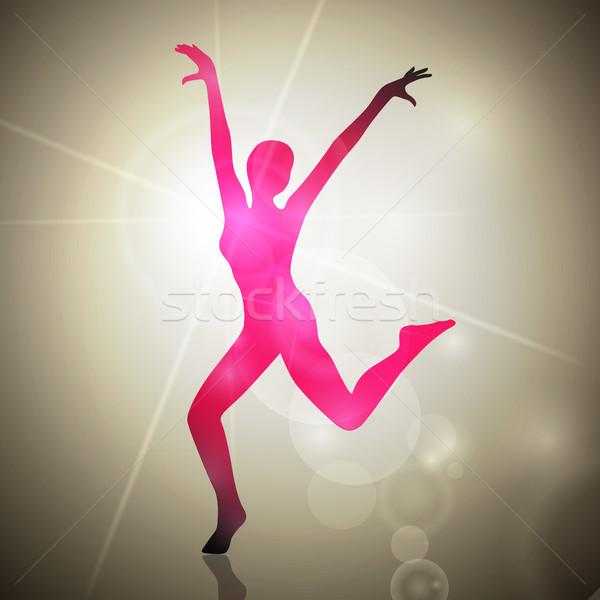 Stok fotoğraf: Soyut · vektör · dans · kadın · müzik · parti