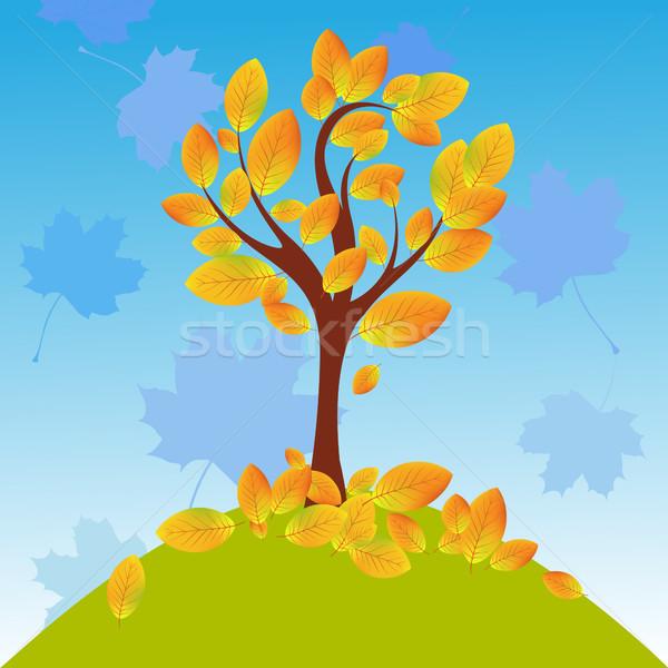 Stock photo: Vector Autumnal Tree