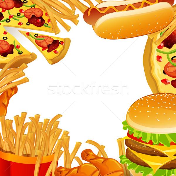 Vector Fast Food Stock photo © RamonaKaulitzki