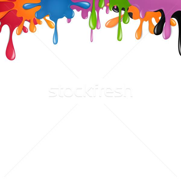 Soyut vektör renk boya sıçraması çocuklar Stok fotoğraf © RamonaKaulitzki