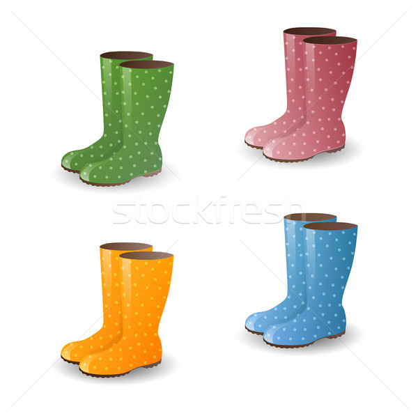 Stock photo: Vector Rubber Boots
