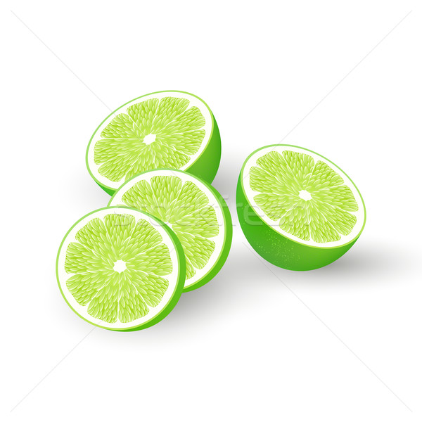 Vector hierba frutas limón jabón cosméticos Foto stock © RamonaKaulitzki