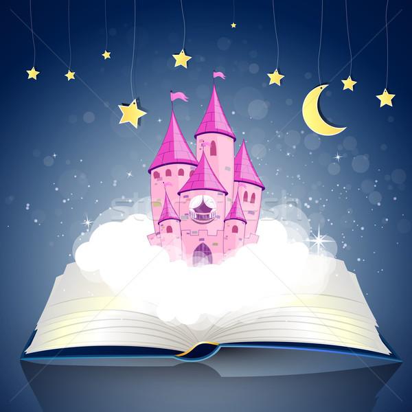 ベクトル 王女 城 開いた本 ノートブック 星 ストックフォト © RamonaKaulitzki