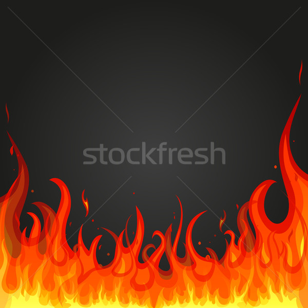 Vector fuego resumen fondo rojo gas Foto stock © RamonaKaulitzki