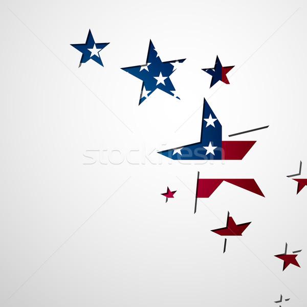вектора искусства плакат Америки концепция Сток-фото © RamonaKaulitzki
