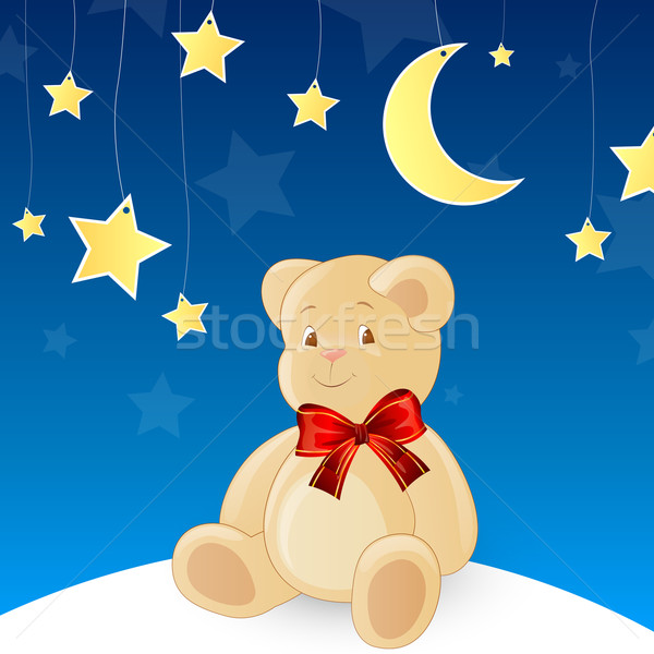 вектора Тедди небе ребенка луна звездой Сток-фото © RamonaKaulitzki