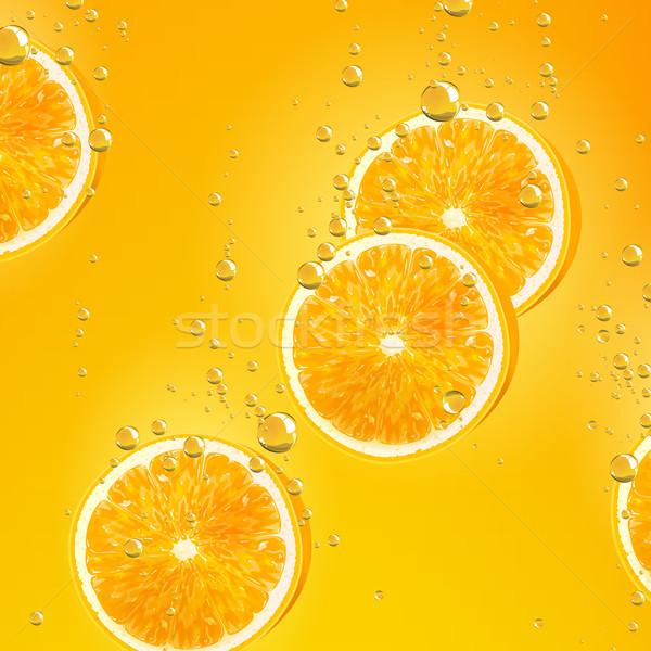 ベクトル オレンジ 果物 下がり 液体 食べ ストックフォト © RamonaKaulitzki
